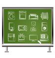 Chalk home electronics vector