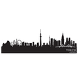 Tokyo japan city skyline detailed silhouette vector