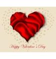 Silk heart on valentine day vector