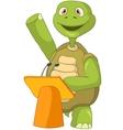 Funny turtle presentation vector