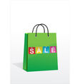 A shopping bag with the inscription sale vector