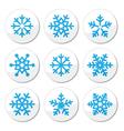 Snowflakes christmas icons set vector