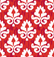 Red damask ikat vector