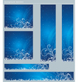 Blue christmas banners with snowflakes vector