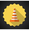 Police road cone flat icon background vector