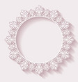 Christmas ornate frame vector
