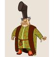 Cartoon fairy man merchant vector