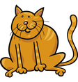 Yellow sitting cat vector