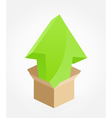Green arrow box vector