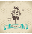 Hand drawn christmas tree design vector