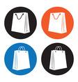 Shopping bag icons vector