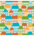 Colored houses in town seamless pattern vector