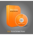 Bright realistic orange isolated dvd cd blue-ray vector