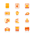 Home electronics icons - juicy series vector