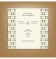 Wedding invitation card color vector