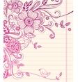 Hand-drawn sketch floral composition vector