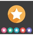 Flat game graphics icon star vector