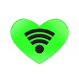 Heart send signal wifi vector