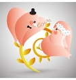 Two doves with lover letter vector