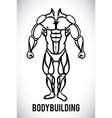 Bodybuilding design vector
