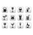 Drink alcohol beverage buttons set vector