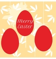Colorful easter eggs hanging on pearl beads vector