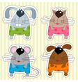 Icon funny animals vector