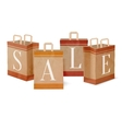 Sale paper shopping bags vector