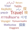 Travel languages vector