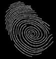 Digitalf finger print vector