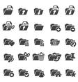 Set of folder icons vector