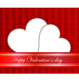 Valentines day paper heart card vector