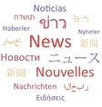 News languages vector