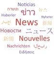 News languages vector