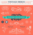 Set classic calligraphic design elements book vector