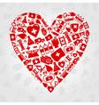 Medical symbols heart vector