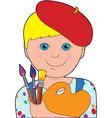 Artist child boy vector