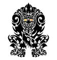 Tattoo with gorilla tribal vector