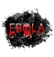 Warning epidemic ebola virus grunge background - vector