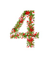 Christmas floral tree number 4 vector