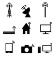 Wireless technology icon vector