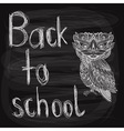 Back to school chalk drawn background vector