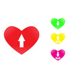 Icon heart upload vector