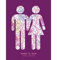 Colorful line art flowers couple in love vector