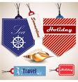 Tags with shells vector