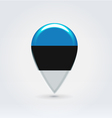 Estonian icon point for map vector