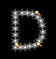 Abstract star d alphabet character vector