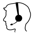 Call center man icon vector