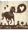 Wild animal grungy background with horse vector