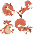 Set of squirrels cartoon vector